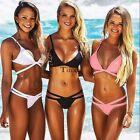 Sexy Bikini Set Push-up Bra Lady Swimsuit Bandeau Swimwear Triangle Bathing Suit