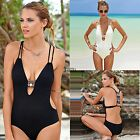 Women Ladies Strappy Push Up Bikini Swimwear Swimsuit Backless Monokini Bathing