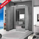 New 1200mm Sliding Shower Enclosure mirror Glass Door Cubicle Screen Stone Tray