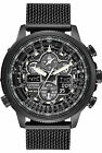 Navihawk AT Eco-Drive Pilot Radio Controlled Black Mesh Band Men's JY8037-50E