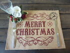 "Christmas Table Placemats  ""Merry Christmas""/ ""Eat Drink And Be Merry"" Hessian"