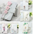 For Samsung Galaxy/iPhone Bling PU Leather Card Holder Wallet Stand Case Cover
