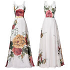 NEW Floral Pattern Sleeveless Formal Dress Evening Wedding Prom Party Ball Gowns