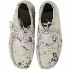CLARKS ORIGINALS WALLABEE BOOTS MULTI SPLATTER NAVY GREY SUEDE