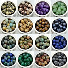 2mm Big Hole 10mm Natural Gemstone Round Loose Beads 20pcs