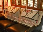 Early NAVAJO NAVAHO Indian Rug w Large Water Bugs Stacked Triangles..GOOD Cond