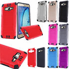 For Samsung Galaxy On5 Combat Brushed Metal HYBRID Rubber Skin Case Phone Cover
