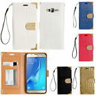 For Samsung Galaxy On5 G550 Premium Leather Wallet Case Flip Pouch Crocodile