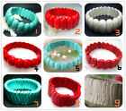 New Fashion Blue 、Red、White Turquoise Beads Stretch Bracelet  8""