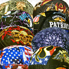 Paisley Bandana Black-Red-Head Wrap Skull cap Doo Capsmith Du Mens Do Biker Rag