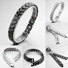 Unisex 4 in 1 Health Germanium Magnet Arrow Heart Therapy Steel Bracelet Bangle