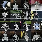 1pc Cute Silver Metal Animal Charming Crystal Beads Pendant Fit Chain Necklace