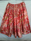 LADIES SKIRT red patterned satin HANDMADE IN UK size 10 12 14 16 boho gypsy