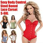 Sexy Lady Corset Steampunk Lace Up Boned Bustier adjustable Body Waist Cincher