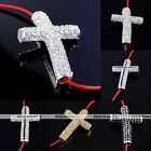 Crystal Studded Curved Cross Bead Connector Fit Charms Bracelet Fashion Jewelry