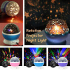 Kids Gift Amazing Starry Sky Cosmos LED Rotate Projector Lamp Master Night Light