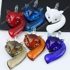 1pc Lampwork Glass Sexy Fox Charms Bead Pendant For Chain Necklace Jewelry DIY