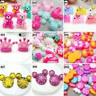 Внешний вид - 10pcs Mixed Colors Cartoon Resin Flatback Hair Accessories DIY Craft 9 Designs-C