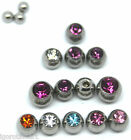 PAIR LADIES FASHION SPARE REPLACEMENT BALLS LIP LABRET BELLY BAR BODY PIERCING