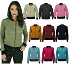 Womens Ladies Retro MA1 Bomber Summer Jacket Coat Vintage Army Biker Flight New