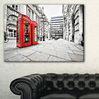 Phone Booths on Street - Cityscape Canvas print