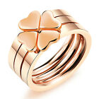 Brand New Stainless Steel Rose Gold Heart Ring Women Luckly Gifts Jewery 5-8#