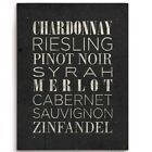 dry white wines list - Click Wall Art List Of Wine Textual Art Wood Plaque in White