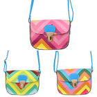 Womens Casual Faux Leather Small Rainbow Pattern ToteShoulder Bag Crossbody Bags