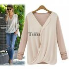 Fashion Women's Loose Chiffon Tops Long Sleeve Shirt Casual Blouse Shirt TXCL