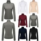 Zeagoo Autumn Ladies Women Cotton Long Sleeve Turtle Neck Slim Tops Blouses TXCL