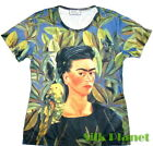 Frida Mexican Self Portrait Bonito Bird Arte Camiseta T Shirt FINE ART PRINT TOP