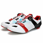 New Men's Cycling Carbon Fiber Soles Shoes Breathable Road Bicycle Bike Shoes DS