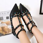 New Women's Pointed Toe Flat Buckle Fashion Casual Dating Shoes