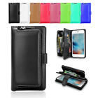New Zip Magnetic Leather All in One Flip Wallet Case Cover For iPhone 6S 6