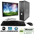 CLEARANCE! Fast WINDOWS 7 or XP Dell Desktop Computer PC Core 2 Duo + LCD
