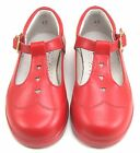 DE OSU 8547 - Girls Red Leather Euro Dress-School Shoes - Size 6 Size 7 Size 8