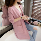 Fashion Women Long Sleeve Knitted Cardigan Loose Sweater Jacket Coat 5 Colors