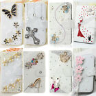 Free Shipping Bling Rhinestone Diamond Flip Wallet Leather Case Cover For ZTE