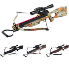 150 lb Black / Wood / Camo Hunting Crossbow Bow + 7 Arrows / Bolts 180 175 80 50