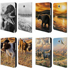 CHUCK BLACK WILDLIFE AND ANIMALS LEATHER BOOK CASE FOR SAMSUNG GALAXY TABLETS