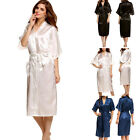 New Women Sexy Korean Robe Lace Pajamas Nightwear Sleepwear Long Kimono Dressing