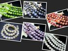 8MM New Lampwork Glass Round Loose Beads 50PCS GR0813A