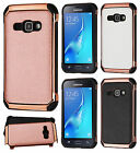 For Samsung Galaxy Express 3 IMPACT HYBRID Plating Case Skin Cover +Screen Guard