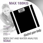 Digital Bathroom Body Fat Scale Scales Gym Weight Water Glass LCD Electronic