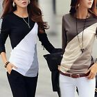 Women Girl Loose Casual Blouse T Shirt Tee Striped Long Sleeve Tops TXCL