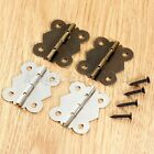 Jewelry Box Decorative Mini Hinge Dolls House Cabinet Cupboard Butterfly Hinges
