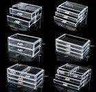 1 Cosmetic Organiser Acrylic Makeup case drawers Jewelry storage clear cabinet i