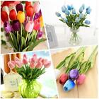 Tulip Handcraft Artificial Flower Real Touch Bridal Wedding Home Decor