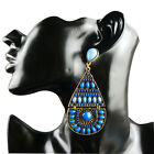 1 Pair New Fashion Girl Dangle Fan-Shaped Beads Earrings Ear Stud