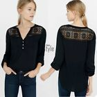 Hot Sexy shirt collar  fashion Stand Neck Sleeve Casual Pocket Neck Black TXST